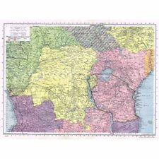 AFRICA (Central) inc Former German Colonies run by League of Nations - Map 1945