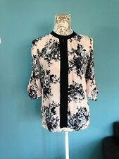 Mandarin Collar Party Floral Tops & Shirts for Women
