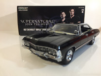Supernatural 1967 Chevrolet Impala Sport Sedan 1:24 Scale Greenlight