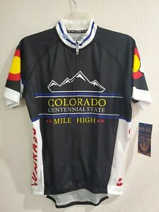 """New Mens Canari Cycling Jersey """"Colorado Centennial State Mile High"""" Size Small"""