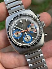 Lovely Orfina Vintage Swiss Chronograph Mens Watch Valjoux 72 Steel Case 37,5mm