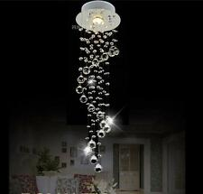 Modern Clear Waterford Spiral Sphere Ceiling Crystal Light Chandeliers LED Lamp