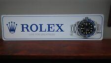"""Rolex Model 116710 BLNR Aluminum Sign  6"""" x 24"""""""