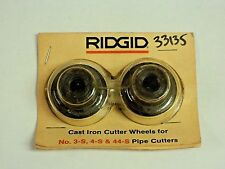 Ridgid 33135 E1962 Pipe Cutter Wheel for Grey Cast Iron (SOLD IN PKG OF 2)-NIB