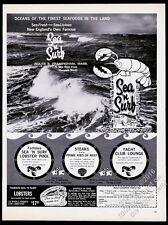 1964 Sea n Surf lobster pound Framingham Massachusetts vintage print ad