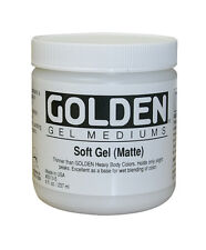 Golden Soft Gel Matte for Acrylic Painting - Choose Size