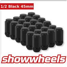 """20 x 1/2"""" black wheel nuts 45mm Ford Falcon FG BF BA AU EL EF EA EB XA XD XE XH"""