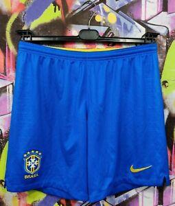 Brazil National Football Team Brasil 2018 Home Soccer Shorts Nike Mens size L