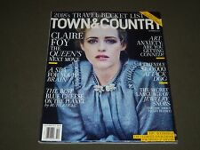 2017 OCTOBER TOWN & COUNTRY MAGAZINE - CLAIRE FOY COVER - K 1447
