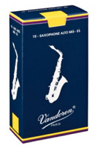 Vandoren Eb Alto Sax Reeds - 10-pack - Ideal For Beginners. Strength: 1.5