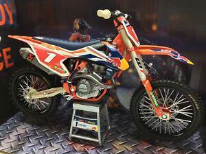 Neuf Ray Ryan Dungey KTM Sxf 450 1:10 Moulé Motocross Jouet Modèle Vélo Orange