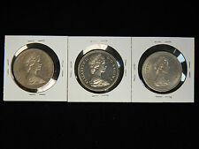 1971-73 Canada Clad Dollars - 3 Coin Lot