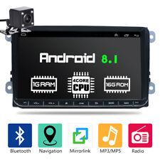 """Autoradio 9"""" Android 8.1 GPS Navi Bluetooth +Rückfahrkamera Für VW GOLF 5 Passat"""