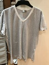 Dior Homme Men's V Neck Bee Logo Grey And White T Shirt