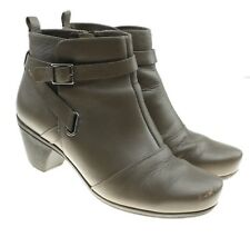 $199 ABEO RINA Neutral Support Gray Leather Ankle Booties Boots Shoes size 8.5 M