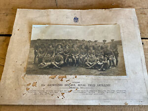 A Genuine WW1 Royal Field Artillery Regiment Officers Photograph Frensham 1915