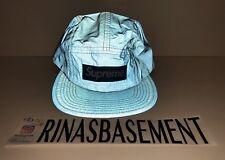 Supreme 3M Reflective Camp Cap Box Logo Hat Blue new SS17 100% Authentic