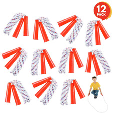 ArtCreativity 84 Inch Nylon Ropes for Kids - Pack of 12 - Durable Jump Ropes -