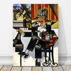 "JUAN GRIS Art - Man in a Cafe CANVAS PRINT 18x12"" - Cubist, Cubism, Abstract"