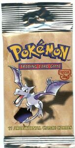 Pokémon Fossil 1999 Sealed Booster Pack 11 Cards, WOC06159, Aerodactyl Unopened!