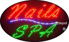 """US Seller Animated Nails Spa Led Sign neon lighted. Video inside.  21""""x13-1/2"""""""