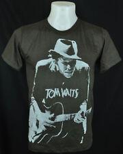 Tom Waits Retro Dark T-Shirt 100% cotton Tee Punk Rock Size XL