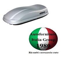 BOX BAULE PORTABAGAGLI TETTO AUTO FARAD MARLIN F3 N7 680LT GRIGIO METALLIZZATO