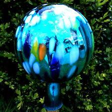 Silber Garten Rosenkugeln aus Glas verspiegelt  in verschiedenen Größen Blau