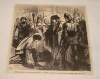1880 magazine engraving ~ KNIGHTING OF THE BLACK PRINCE, England