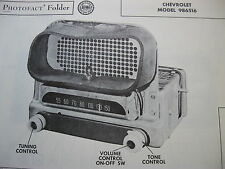 1951 CHEVROLET 986516 RADIO PHOTOFACT