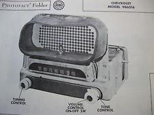 1951 CHEVROLET 986516 RADIO PHOTOFACT