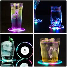 4/6 Led Suporte De Copo Pad Bar Festa Deco Bebida Coaster luminou atmosfera Luz