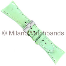 26mm Glam Rock Mint Green Patent Leather Stitched Handmade Watch Band W/ Defect