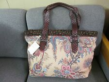 Isabella's Journey Unique Echo Carpet Bag Large Carryall Tote new w tags