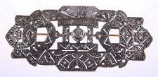 Antique Ladie Platinum Gold Diamond Brooch Art Deco Pin 051-647
