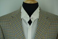 Samuelsohn SB Como Bright Multicolor Plaid S130s Wool Sport Coat Jacket Sz 43L