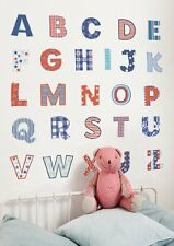 FunToSee™ Wall Art Stickers Bedroom Nursery Alphabet RED WHITE & BLUE 🇬🇧