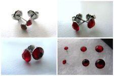 Orecchini di bigiotteria rosso in acciaio