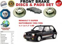 FOR RENAULT 5 SUPER HATCHBACK 82-96FRONT SOLID BRAKE DISCS SET + BRAKE PAD KIT