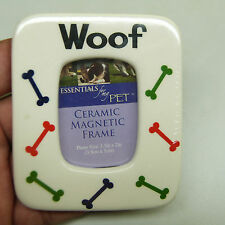"""$5 Blow Out Sale: CERAMIC MAGNET """"WOOF"""" 1.5 x 2 in (BRAND NEW)"""