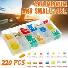 220pcs Medium and Small Fuse Mixed Safety Voltage Plastic Car Insurance