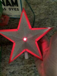 VTG 1940s - 50s WORKING Glolite Illuminated Christmas Tree Star Original Box #MB