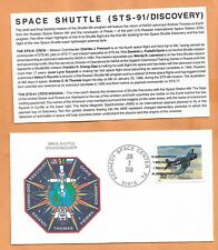 SHUTTLE DISCOVERY STS-91 JUN 2,1998 KSC SPACE COVER  ****