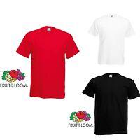 3 Pack Men's Fruit of the Loom Plain 100% Cotton Blank Mix Tshirt T-Shirt New