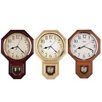 Traditional Schoolhouse Arabic Pendulum Wall Clock Westminster Chime