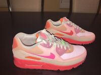 New Nike Air Max 90 Platinum Crimson Sneaker Shoes Size US 10.5