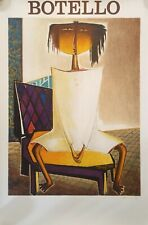 """ANGEL BOTELLO """"Silla"""" Lithograph print Gallery Poster signed"""