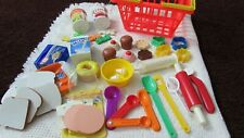 Huge Vintage 1987 Fisher Price Fun With Food & Other Vtg Play Cooking Toy Lot