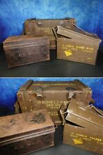 Ammunition Box SMK MK2 Mortar Shells + Gren Hand Sig Case belonging FG Anderson
