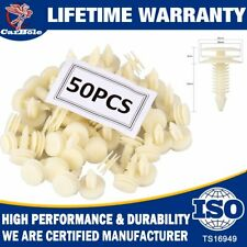 White 50 Pack Door Trim Panel Clips Retainer For Chevy GM Chevrolet Express 1500